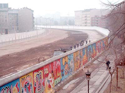 Berlin Wall - view from West Berlin in 1986